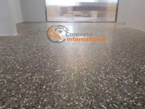 Шлифованный бетонный пол с пропиткой