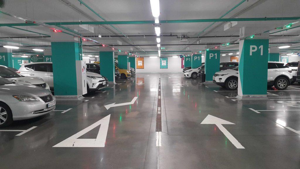 промышленные бетонные полы для паркинга